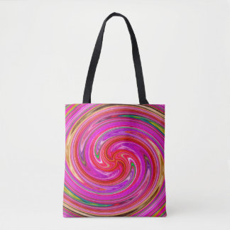 Colorful Abstract Purple And Lilac Whirls Tote Bag