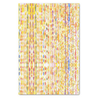 Colorful Abstract Rainbow Stripes on Tissue Paper