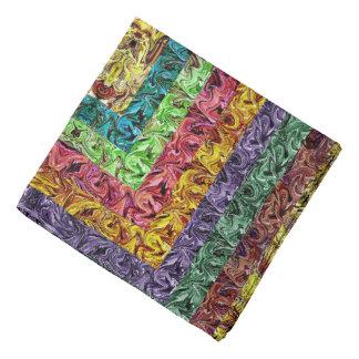 Colorful Abstract Rectangles Geometric Grid Bandana