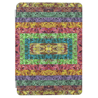 Colorful Abstract Rectangles Geometric Grid iPad Air Cover