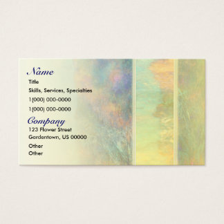 Colorful Abstract Reeds Business Card