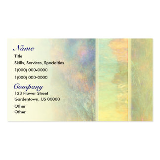 Colorful Abstract Reeds Business Cards