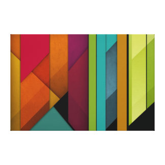 colorful abstract retro art linear geometric canvas print