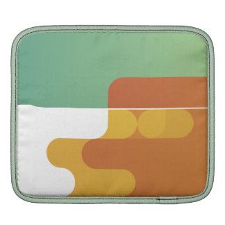 colorful abstract retro art linear geometric green iPad sleeves