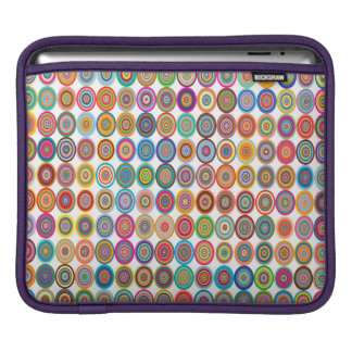 Colorful Abstract Small Concentric Circles Art iPad Sleeve