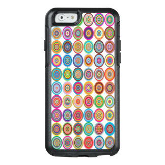 Colorful Abstract Small Concentric Circles Art OtterBox iPhone 6/6s Case