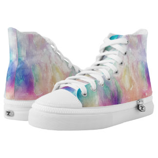 Colorful Abstract Space Nebula Printed Shoes