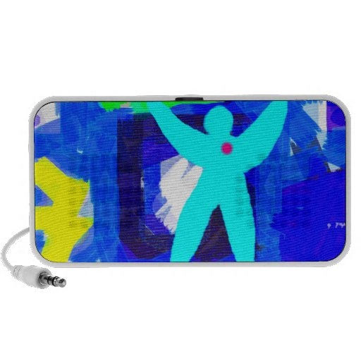 Colorful Abstract Laptop Speakers