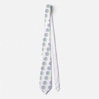 Colorful abstract sphere tie