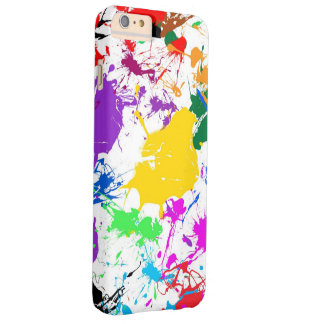colorful abstract splash art barely there iPhone 6 plus case