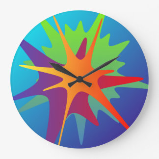 Colorful Abstract Splash Wall Clock