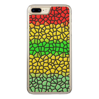 colorful abstract  stained glass carved iPhone 8 plus/7 plus case