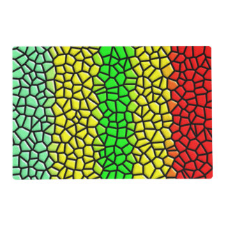 colorful abstract  stained glass laminated place mat