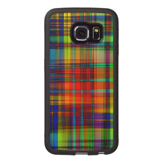 Colorful Abstract Stripes Art Wood Phone Case