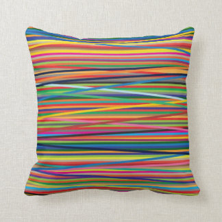 Colorful abstract stripes design throw pillow