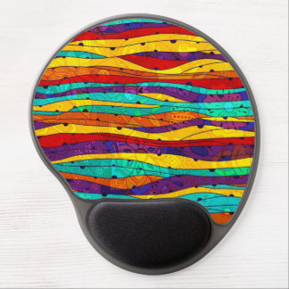 Colorful Abstract Stripes Gel Mouse Mat