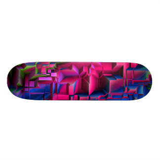 colorful abstract structured (I) Skateboard Deck