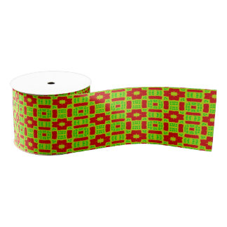 colorful abstract stylish pattern grosgrain ribbon