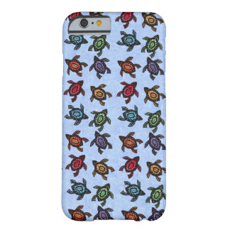 Colorful Abstract Swimming Turtles Barely There iPhone 6 Case