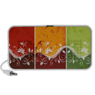 colorful abstract swirl vector flowers travel speaker