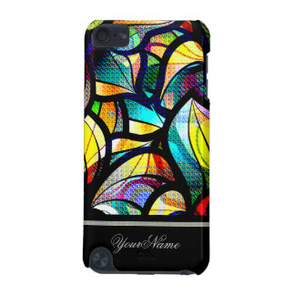 Colorful Abstract Swirls Custom Name iPod Touch 5G Cover