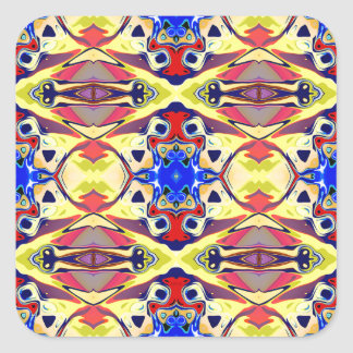 Colorful Abstract Symmetry Square Sticker