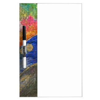 Colorful Abstract texture art Dry Erase White Board