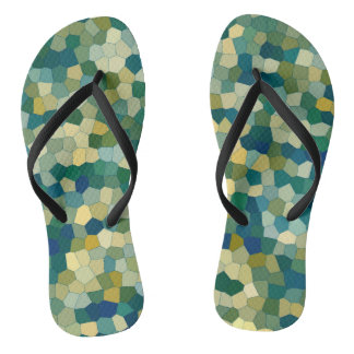 Colorful Abstract Texture Pattern Flip Flops