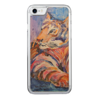 Colorful Abstract Tiger Carved iPhone 7 Case