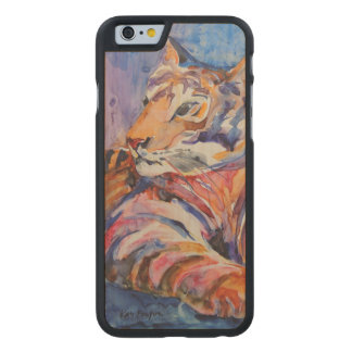 Colorful Abstract Tiger Carved® Maple iPhone 6 Slim Case