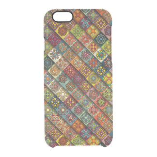 Colorful abstract tile pattern design clear iPhone 6/6S case