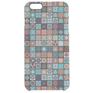 Colorful abstract tile pattern design clear iPhone 6 plus case