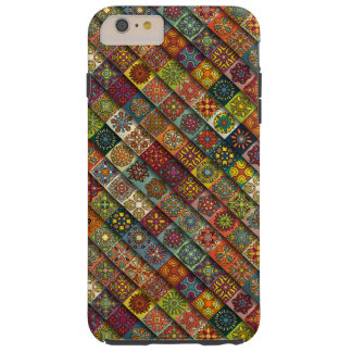 Colorful abstract tile pattern design tough iPhone 6 plus case