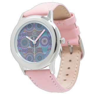 Colorful abstract tile pattern design watch
