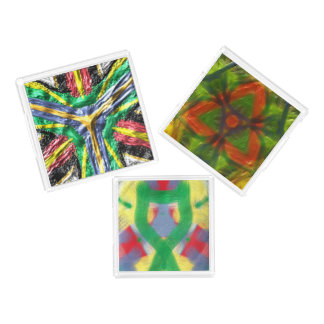 Colorful abstract trendy pattern acrylic tray