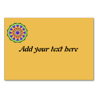 Colorful Abstract trendy pattern Table Cards
