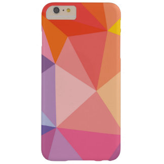 Colorful Abstract Triangle Pattern Barely There iPhone 6 Plus Case