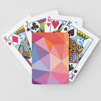 Colorful Abstract Triangle Pattern Bicycle Playing Cards