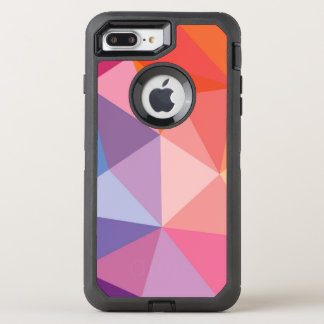 Colorful Abstract Triangle Pattern OtterBox Defender iPhone 8 Plus/7 Plus Case