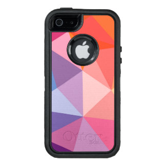 Colorful Abstract Triangle Pattern OtterBox Defender iPhone Case