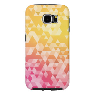 Colorful Abstract Triangle Pattern Samsung Galaxy S6 Cases