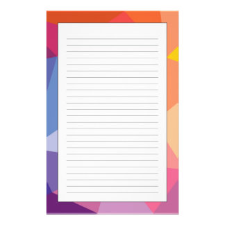 Colorful Abstract Triangle Pattern Stationery