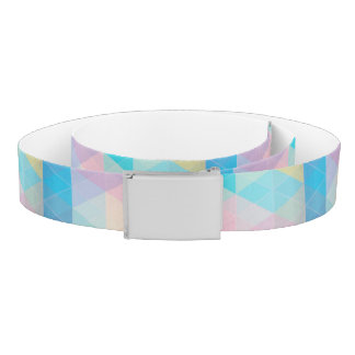 Colorful abstract triangles background belt