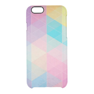 Colorful abstract triangles background clear iPhone 6/6S case