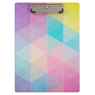 Colorful abstract triangles background clipboard