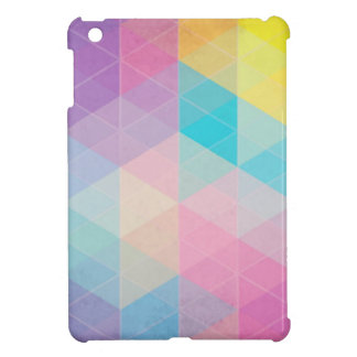 Colorful abstract triangles background cover for the iPad mini