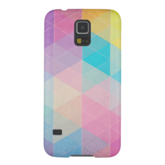 Colorful abstract triangles background galaxy s5 covers