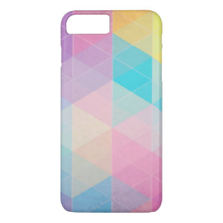 Colorful abstract triangles background iPhone 8 plus/7 plus case