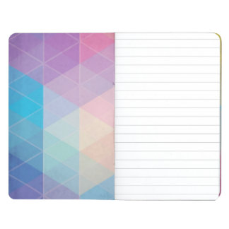 Colorful abstract triangles background journal