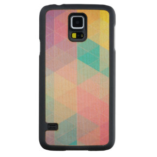 Colorful abstract triangles background maple galaxy s5 slim case